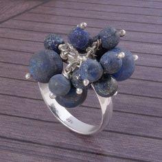 New Design 925 STERLING SILVER STLISH Lapis Stone RING 8.52g DJR3586 #Handmade #Ring