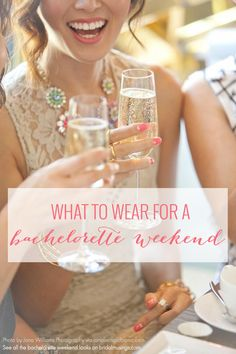 Heading to a lady's weekend? Outfits and Looks for a Bachelorette Party Weekend Trip