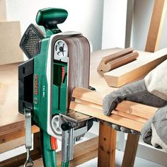 Anyone who owns a belt sander will be surprised to know how easy it is to use a belt sander as a stationery sander - simply by using an parallel and angle guide attachment.