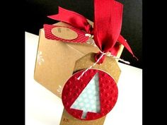 Happily Ever Crafter: Merry Monday #11.  Gift Box Punch Board, Christmas Gift Tag