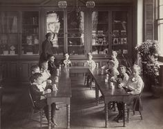 Kindergarten Department of the Perkins Institution for the Blind in Jamaica Plain, MA, circa 1893. Visit the Perkins Archives Flicker page: http://www.flickr.com/photos/perkinsarchive/collections/