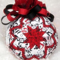 Quilted Ornament Ball Christmas Decoration