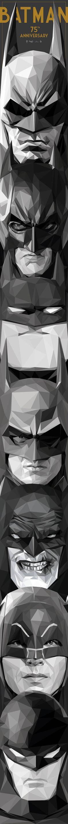 Trabajo de ilustración por el 74 aniversario de Batman...Batman 75th Anniversary artwork