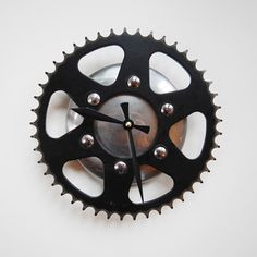 Night And Day Clock, $95, now featured on Fab. (made from recycled bike parts)