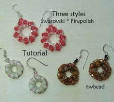 Tutorial, Merry-Go-Round Earrings, Swarovski Crystal - Instant Download