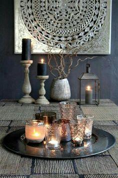 Beautiful Turkish / Moroccan Mandela and candle display
