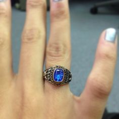 Class ring, that's cute!