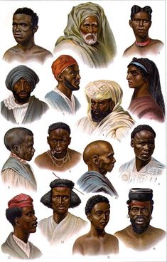 Faces Of Africa 1 Cultural Anthropology Chromolithograph Print 1903 Edwardian Era African Tribes, African Diaspora, African Art, African Culture, African American History, Especie Animal, Black History Facts, Antique Illustration, African History