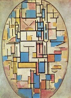 Oval Composition, by Piet Mondrian Picasso And Braque, Composition, Piet Mondrian, Georges Braque, Square Canvas, Dutch Artists, Colored Paper, Cubism, Museum Of Modern Art