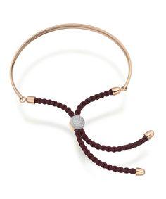 Rose Gold Vermeil Diamond Pavé Fiji Bracelet, Monica Vinader. Shop the latest bracelets from the Monica Vinader collection online at Liberty.co.uk