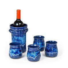 Wine Chiller Set - Handmade Kitchenware - Mountain Arts Pottery