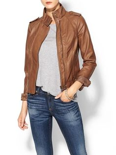 a perfect brown leather jacket and vegan Pretty Outfits, Fall Outfits, Summer Outfits, Cute Outfits, Fashion Outfits, Womens Fashion, Vegan Leather Jacket, Vegan Fashion, Autumn Winter Fashion