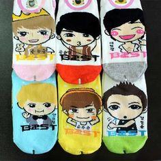 mizsoap-Beast-B2st-KPOP-Korean-super-star-character-socks-6pairs-unisex-bi