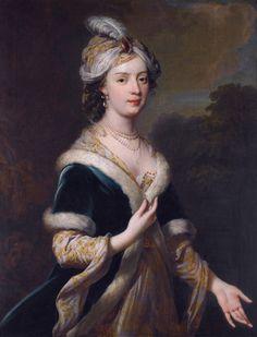 Elizabeth Howard (1701-1739), eldest daughter of Charles Howard, 3rd earl of Carlisle, in turkish costume, by George Knapton