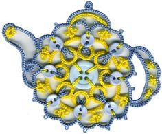 Celtic Button Teapot Tatting Pattern by esstats on Etsy, $3.75