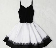 Black and White Ballerina Lace Stitching Dress