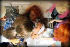Barbie Stories, Luke And Laura, New Grandparents, Im Proud Of You, After Birth, Nursery Crib, Holding Baby, Barbie World, Krystal