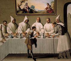 San Hugo en el Refectorio.de los cartujos zurbaran 1630 - 35