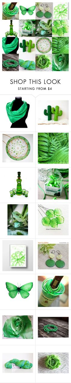 """""""Etsy Greens"""" by andreadawn1 ❤ liked on Polyvore featuring etsy, handmade, EtsySpecialT, etsyhandmade and etsymntt"""