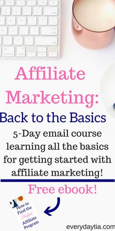 Are you tired of working for other people? Youre working hard to make THEIR dreams come true, but yours are just fading away. Have you ever wanted to try affiliate marketing, but just didnt know where to start? Affiliate Marketing: Back to the Basics is a FREE 5 day email course thatll save you weeks of research and get you on the fast track to giving you the opportunity for making full time passive income by working from home. Enroll in the free course today and receive a FREE ebook t...