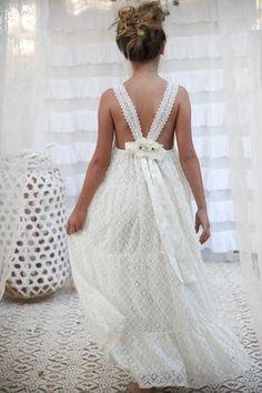 Amelie Lace Maxi- new delivery just arrived Beach Flower Girls, Flower Girl Dresses Boho, Dresses For Teens, Girls Dresses, Junior Bridesmaid Dresses, Wedding Dresses, Wedding With Kids, Lace Maxi, Boho Wedding