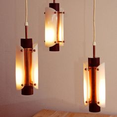 Danish Hanging Lamps Set Of 3, £328, now featured on Fab.