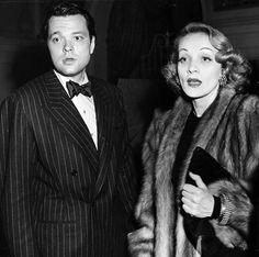 Marlene Dietrich with Orson Welles