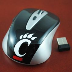 Cincinnati Bearcats USB Wireless Optical Mouse for Laptop & PC Computer