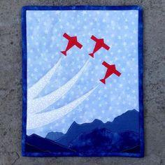 Alpine Flight - Miniature Quilt by RMarino - Craftsy Quilt Baby, Boy Quilts, Mini Quilts, Boys Quilt Patterns, Paper Piecing Patterns, Sewing Patterns, Quilting Projects, Sewing Projects, Sewing Ideas