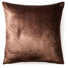 Check out this item at One Kings Lane! Fiona 20x20 Velvet Pillow, Brown