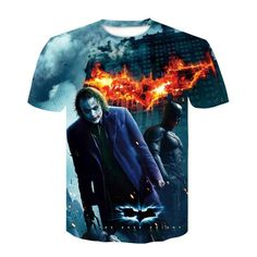 DESCRIPTION Are you looking for the best T-Shirt you've ever owned? Then grab this awesome All Over Print Tee from us! It's made with Premium Polyester tha 3d T Shirts, Star Fashion, New Fashion, Summer Fashion Outfits, Comic Character, Funny Comics, Joker, Tees, T Shirts