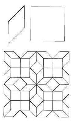 English Paper Piecing 8 Point Diamond Squares Pattern | ConnectingThreads.com