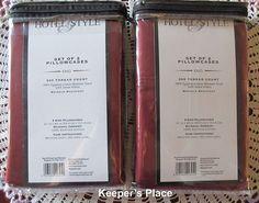 4 Hotel Style King Pillowcases 500 Thread Count 100% Egyptian Cotton Burgundy #HotelStyle #EgyptianCotton