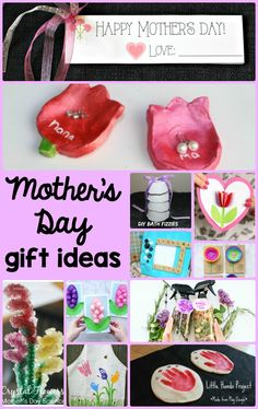 20 Mother's Day Gift Ideas- unique homemade gift ideas for Mother's Day!  #mothersday #homemadegifts