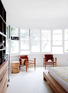 Home inspiration (and minimal bohemian-ism). Love the circular room, so many windows, so much light!