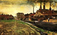 Vincent van Gogh — Iron Mill in The Hague, 1882, Vincent van...