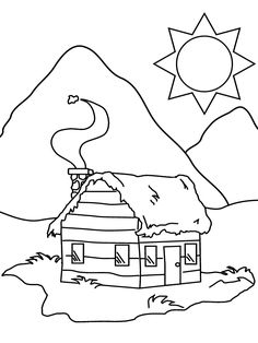 cabin colouring pages page 3 lumberjack