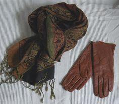 Czekoladowe brązowe skórzane 7,5 L + szal Pashmina - Zdjęcie na imgED