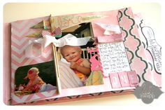 Sweet page for 1st birthday book -   from Heidi Swap