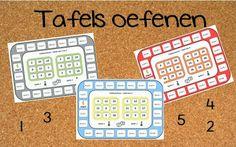 Tafels oefenen met tafelbingo, 1 t/m 5