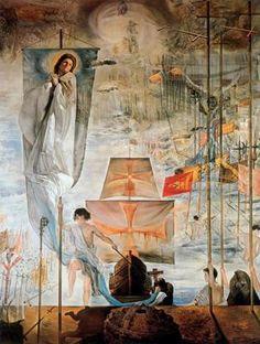 El descubrimiento de América por Cristóbal Colón - Salvador Dalí - 1958-1959. Óleo sobre lienzo. 410 x 284 cm. Museo Salvador Dalí. San Petersburgo. Florida. USA.