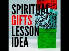 Want an illustrated way to talk about Spiritual Gifts with the students in your youth ministry? Here's an Idea.