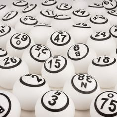 Bingo Balls - White 1 Sided - 1.5 inch