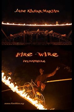 "Discover Fire-Wire by Jade Kindar-Martin, a one-of-a-kind fire act. www.fire-wire.org high-wire walk. High-wire / funambule ""feunambule"" World Records, Cool Pictures, Jade, Acting, Movie Posters, Film Poster, Billboard, Film Posters"