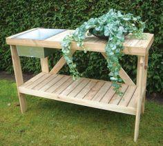 potting bench patterns | Buy Galvanised Greenhouse Potting Bench at PottingShed