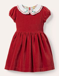 We've completely fallen in love with the current selection of Christmas dresses for little girls so much that we'll happily forfeit the loss from them out dressing us this holiday season. #littlegirlchristmasoutfit #christmasdresses #girlschristmasdress #holidayoutfit #southernliving Rockabilly, Gathered Skirt, Cute Outfits For Kids, Collars, Party Dress, Short Sleeve Dresses, Velvet, Summer Dresses, High Waist