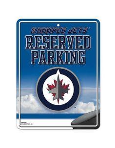 Winnipeg Jets Metal Parking Sign #WinnipegJets