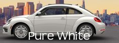 2017 vw beetle in pure white