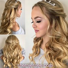#promhair #prom #halfup #curls #braids #bohemian #musicfestival #beautifulhair www.sherrijessee.com #blonde Hair And Makeup Artist, Hair Makeup, Beautiful Inside And Out, Beauty Queens, Prom Hair, Blondes, Redheads, Hair Ideas, Curls