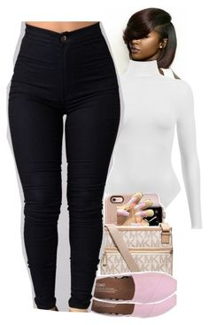"""Untitled #1916"" by toniiiiiiiiiiiiiii ❤ liked on Polyvore featuring Michael Kors and TOMS"